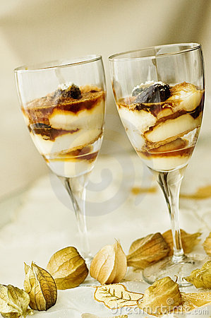 Free Layered Desserts In A Glass Stock Photos - 8895753
