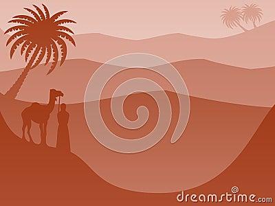 Layered Landscape Background: Desert Red