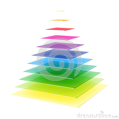 Free Layered Rainbow Colored Pyramid Stock Photography - 33229582