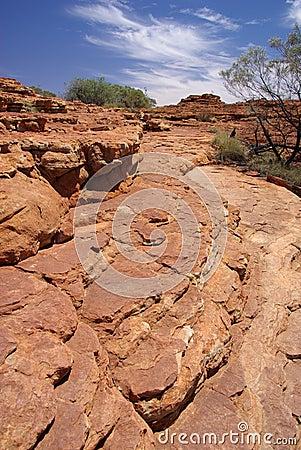 Free Layered Rock At King S Canyon Royalty Free Stock Image - 6970306