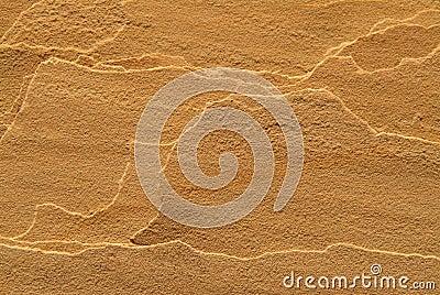 Layered sandstone texture.