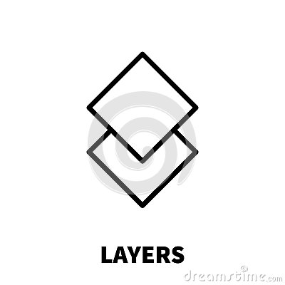 Layers icon or logo in modern line style. Vector Illustration