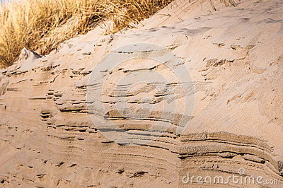 Layers of sand at a Dutch dune