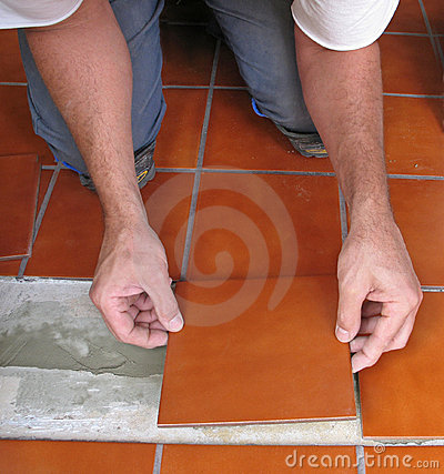 Free Laying Ceramic Tile Royalty Free Stock Image - 3585576