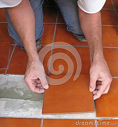 Laying ceramic tile