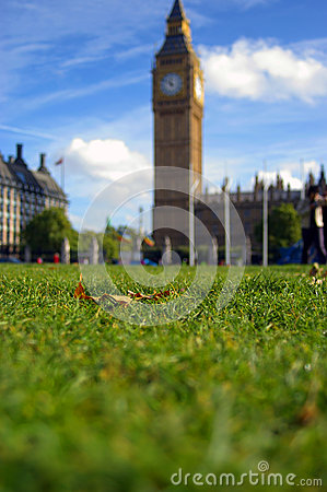 Laying down at Big Ben