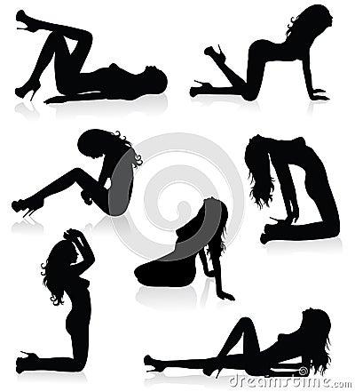 Laying woman.