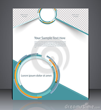 Free Layout Business Brochure, Magazine Cover, Or Corporate Design Te Stock Photography - 46537502