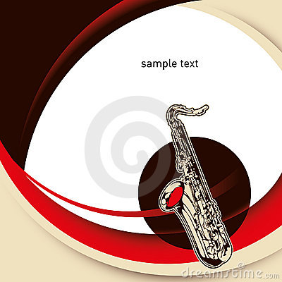 Layout with saxophone.
