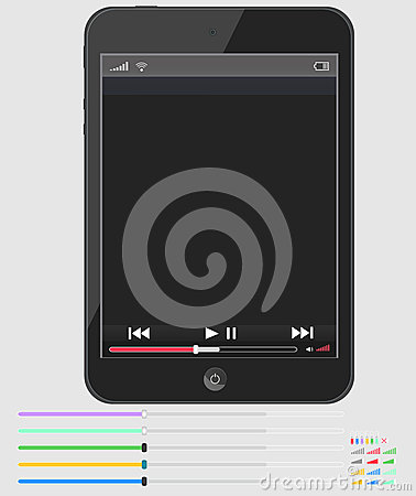 Layout smartphone with multimedia player