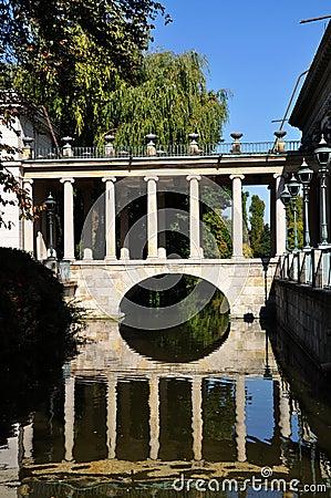 Lazienki royal park in Warsaw
