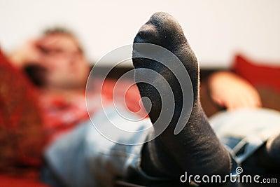 Laziness man chilling out