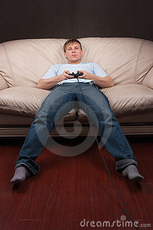 Free Lazy Gamer Royalty Free Stock Photos - 23720098