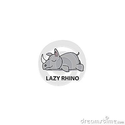 Free Lazy Rhino, Cute Rhino Sleeping Icon, Logo Design, Vector Royalty Free Stock Image - 112991766