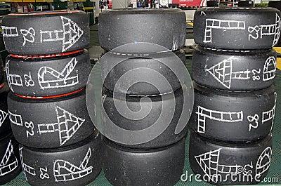 LBGP - Race tires Editorial Stock Image