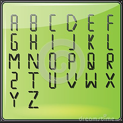 LCD Digital Alphabet
