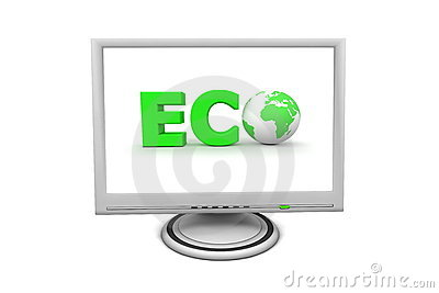 LCD Flat Screen Monitor Eco