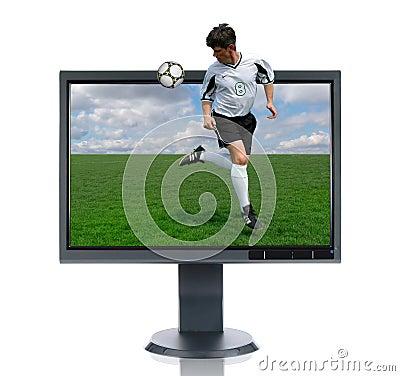 Free LCD Monitor And Back Kick Royalty Free Stock Photos - 2756908