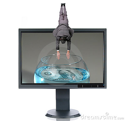 Free LCD Monitor And Diver Royalty Free Stock Image - 2865586