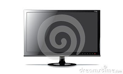 Lcd monitor is black