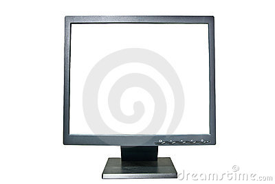 LCD monitor with clipping path