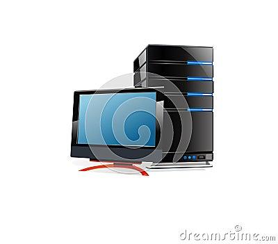 LCD monitor and CPU