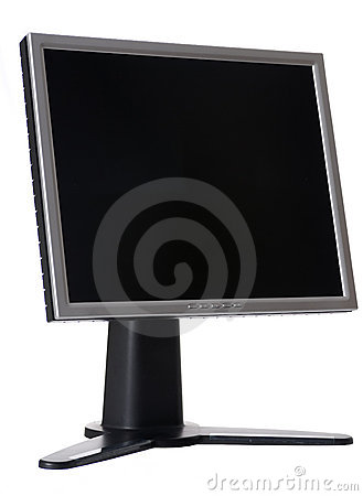 LCD Monitor isolated