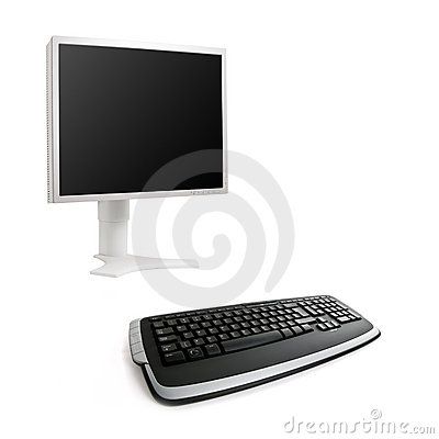 LCD screen and keyboard