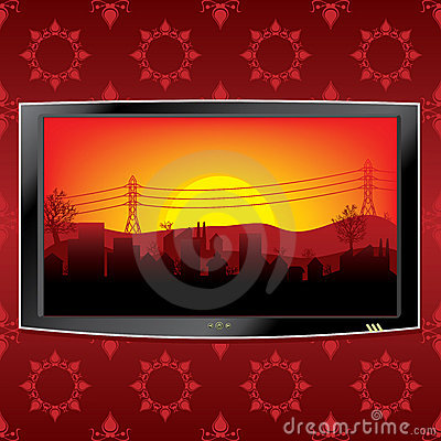 Lcd tv background