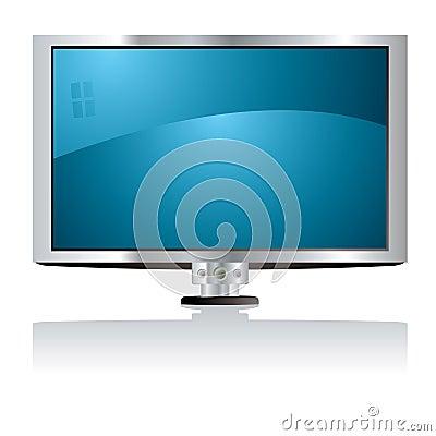 LCD tv blue