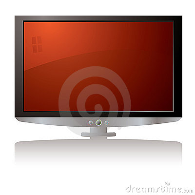 LCD tv red