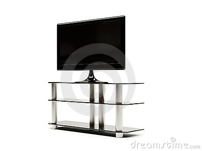 LCD TV with stand