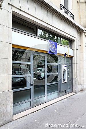 LCL Bank, Paris Editorial Stock Photo
