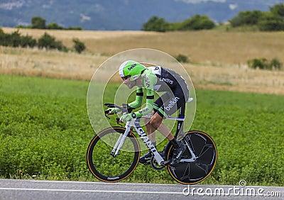 Le barrage de Laurens dix de cycliste Photographie éditorial