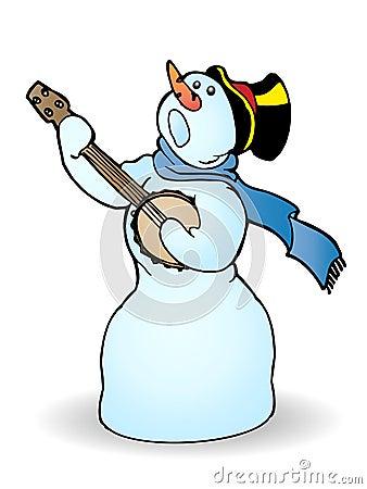 Le bonhomme de neige chantent