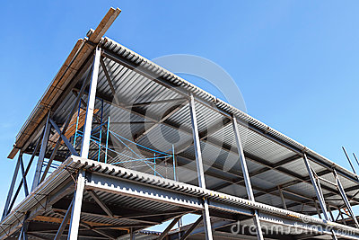 Le b timent industriel moderne est en construction photo stock image 72001700 - Batiment industriel moderne ...