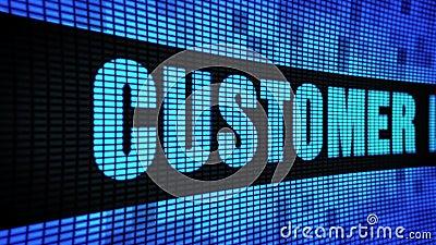 Le côté de fidélité de client textotent mettre en rouleau le panneau de signe de panneau d'affichage de mur de LED illustration stock