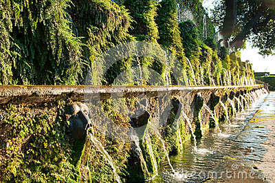 Le cento fontane at Villa d este in Tivoli - Roma