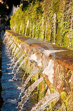 Le cento fontane a Villa d este in Tivoli - Roma