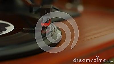 Le chariot a tiré d'une aiguille sur un disque clips vidéos