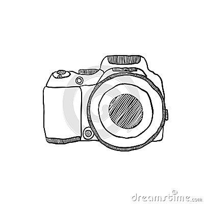 le croquis d 39 un appareil photo de photo dessin la main illustration de vecteur image 40041671. Black Bedroom Furniture Sets. Home Design Ideas