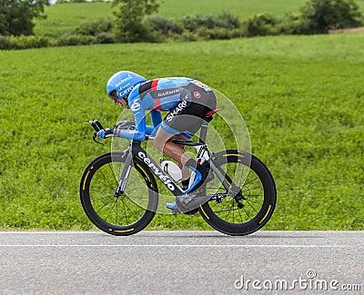 Le cycliste Daniel Martin Image éditorial