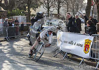 Le cycliste Dumoulin Samuel Paris Nice Prolo 2013 Photo stock éditorial
