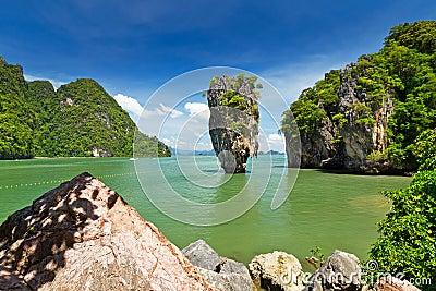 Île de James Bond sur le compartiment de Phang Nga