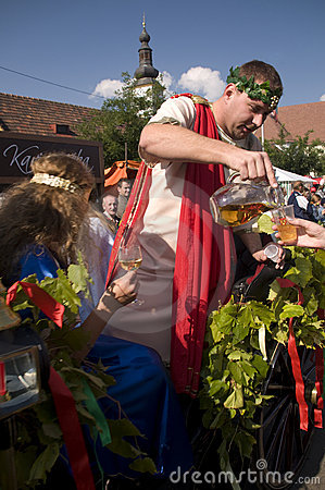 Le dieu de mythologie du Bacchus de vin Photo stock éditorial