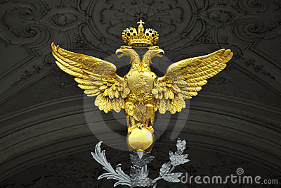 Le double a dirigé l aigle, palais de l hiver, St Petersburg