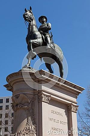 Le Général Winfield Scott Hancock dans le Washington DC