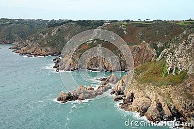 Le Gouffre above Petit Bot Bay, Guernsey