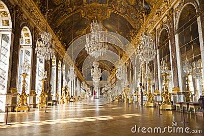 Le hall du miroir du ch teau de versailles photo ditorial for Monsieur du miroir