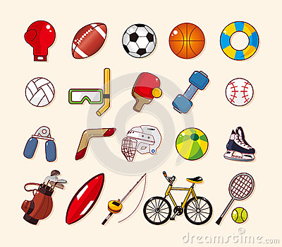 Icone dell elemento di sport messe